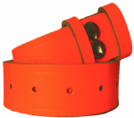 38mm Fluorescent Orange Snap Fit Leather Belt